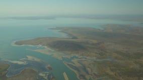 Stirra över en sjö i västra Australien arkivfilmer