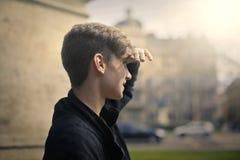 Stirra för unge arkivfoto