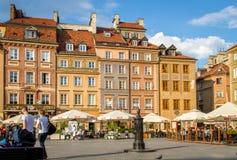 Stirrande Miasto, marknadsfyrkant Arkivbilder