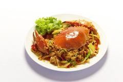 Stirred Fried Crab with Curry Powder Royalty Free Stock Photography