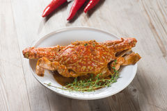 Stirred Fried Crab with Garlic Royalty Free Stock Image