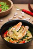 Stirred Fried crab in yellow curry Royalty Free Stock Photo