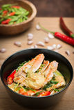 Stirred Fried crab in yellow curry Stock Photography