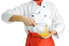 Stirring An Egg Royalty Free Stock Photo
