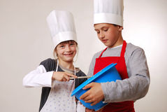 Stirring the batter Royalty Free Stock Images