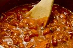 Stirring Hot Chili Royalty Free Stock Photo