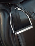 Stirrup at dressage saddle. close up Royalty Free Stock Photos