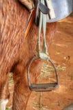 Stirrup on horse Royalty Free Stock Images