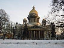 StIsaac ` s大教堂在圣彼德堡 俄国 库存照片