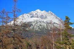 Stit de Gerlachovsky - repique em Tatras alto, Eslováquia imagem de stock