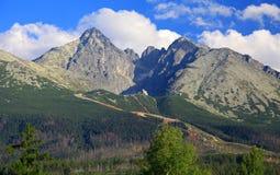 Stit de Lomnicky - faites une pointe dans haut Tatras, Slovaquie Photos libres de droits