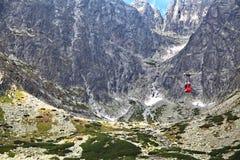 Stit de Lomnicky - faites une pointe en hautes montagnes de Tatras Image libre de droits