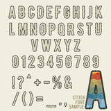 Stitch alphabet Royalty Free Stock Images