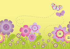 Stitch - flower field Stock Image
