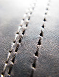 Stitch leather. A background of leather with stitch stock photo