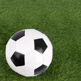 Stitch leather soccer focus ball Stock Images