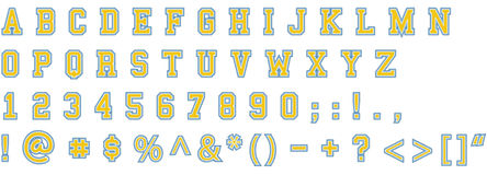 Stitch letters Stock Image
