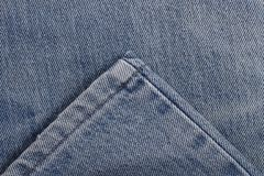 Stitch and seam clothing for leg of jeans for pattern Royalty Free Stock Photos