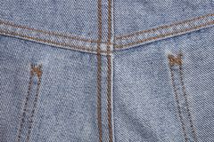 Stitch and seam clothing for leg of jeans for pattern Royalty Free Stock Images