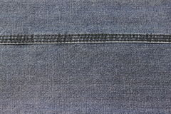 Stitch stitched on denim Royalty Free Stock Photography