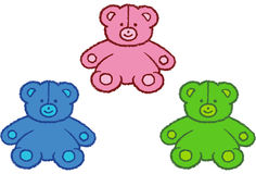 Stitched Bears Royalty Free Stock Photography