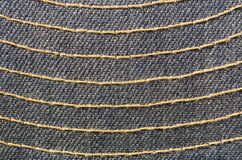 Stitched Blue Cloth Royalty Free Stock Photos
