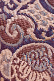 Embroidered fabric. A closeup of the detail of the stitches on a piece of canvas Royalty Free Stock Photos