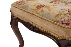 Stitched Cushion Cover of an Antique Stool Seat Royalty Free Stock Images