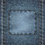 Stitched denim background Stock Photography