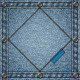 Stitched denim background Stock Image