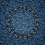Stitched denim background Royalty Free Stock Images