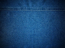 Stitched denim Royalty Free Stock Images