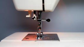 Stitched fabric, sewing machine Royalty Free Stock Photo