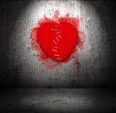 Stitched felt broken heart Stock Photo