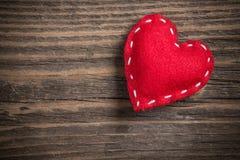 Stitched felt heart Stock Image