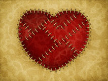 Stitched heart Stock Photography