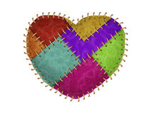 Stitched Heart Royalty Free Stock Photos