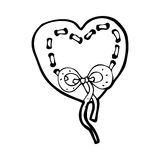 Stitched heart cartoon Royalty Free Stock Photos