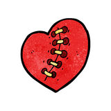Stitched heart cartoon Royalty Free Stock Images