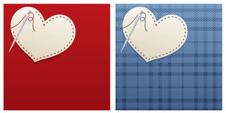 Stitched Heart Stock Photo