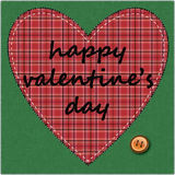 Stitched heart valentines Royalty Free Stock Image