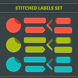 Stitched labels set Stock Photography