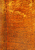 Stitched leather a. Old, worn, aged leather textured background Stock Images