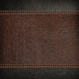 Stitched leather background Royalty Free Stock Photos