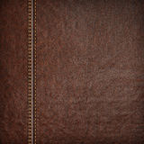 Stitched leather background Stock Photography