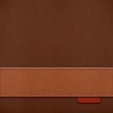 Stitched leather background Stock Images