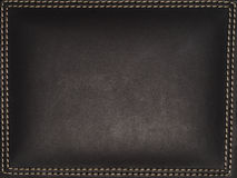 Stitched leather texture Stock Photos