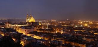 Brno panorama Stock Photos