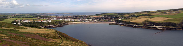 Stitched Panorama Port Erin Bay Isle of Man Stock Photos
