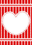 Stitched red heart border frame stock images